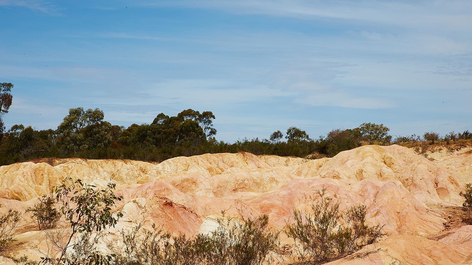 Pink Cliffs Reserve, Heathcote, Goldfields, Victoria, Australia