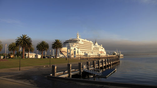 Silver Spirit docked in Geelong, Great Ocean Road, Victoria, Australia