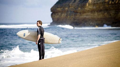 Surfer, Bells Beach, Great Ocean Road, Victoria, Australia
