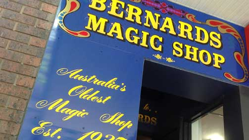 Bernards Magic Shop, Melbourne, Victoria, Australia