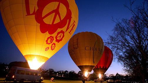 Hot air ballooning, Melbourne, Victoria, Australia
