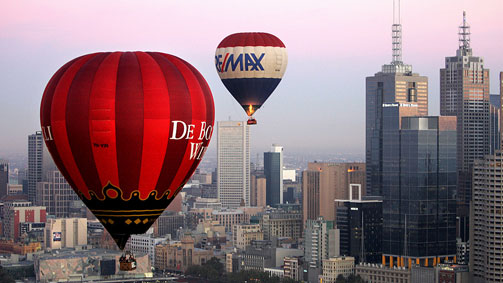 Over melbourne picture of global ballooning melbourne and yarra - Hot Air Balloons Melbourne Victoria Australia