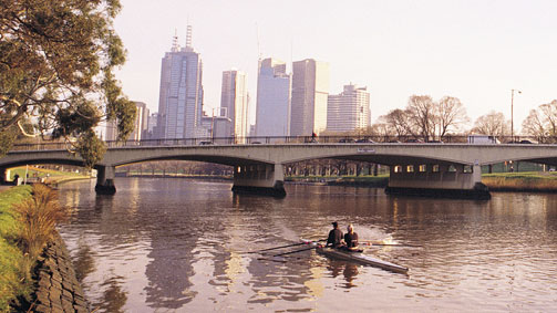 Kayaking on the Yarra River, Melbourne, Victoria, Australia
