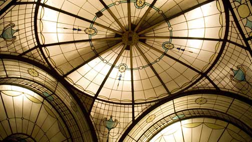 Ceiling detail from Cathedral Arcade, Melbourne, Victoria, Australia