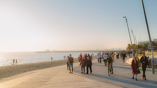 St Kilda boardwalk, Melbourne, Victoria, Australia. Photo: Roberto Seba