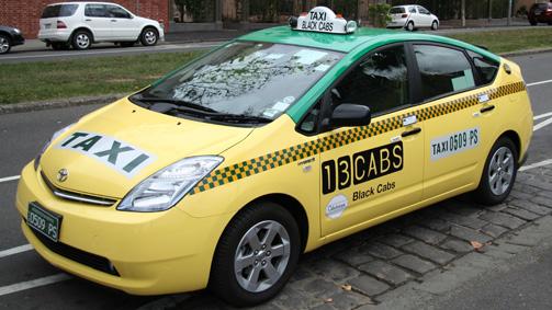Hybrid taxi, Melbourne, Victoria, Australia