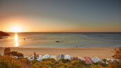 Bathing boxes, Mount Martha, Mornington Peninsula, Victoria, Australia