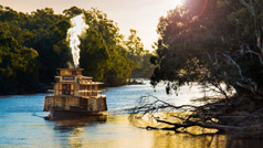 Paddle steamer, The Murray, Victoria, Australia