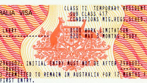 Working Holiday Visa, Australia