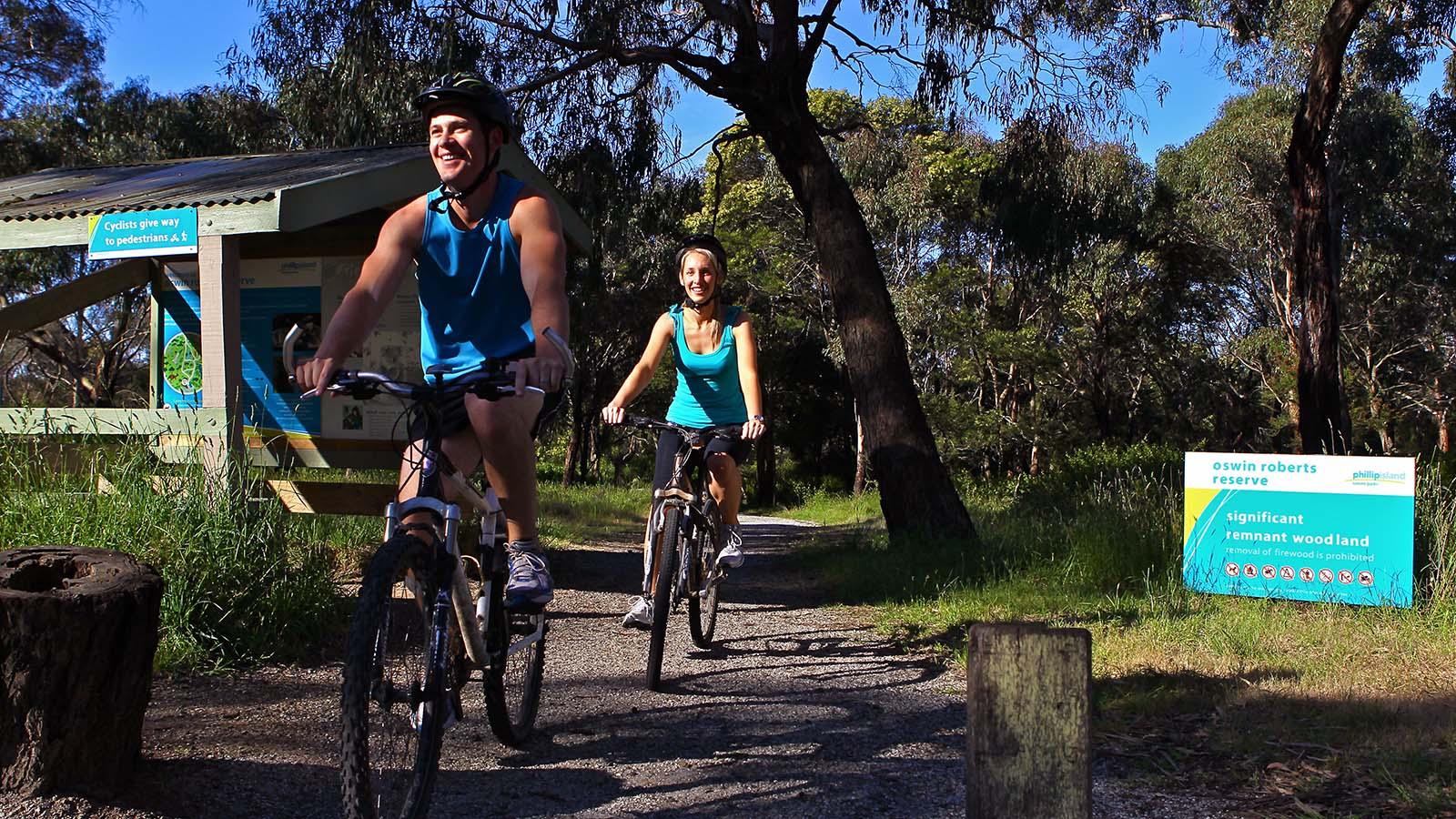 Oswin Roberts Reserve Cycling Trail, Phillip Island, Victoria, Australia