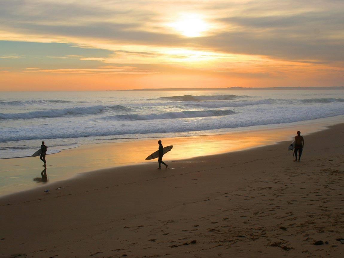 Surfers at Cape Woolamai, Phillip Island, Victoria, Australia