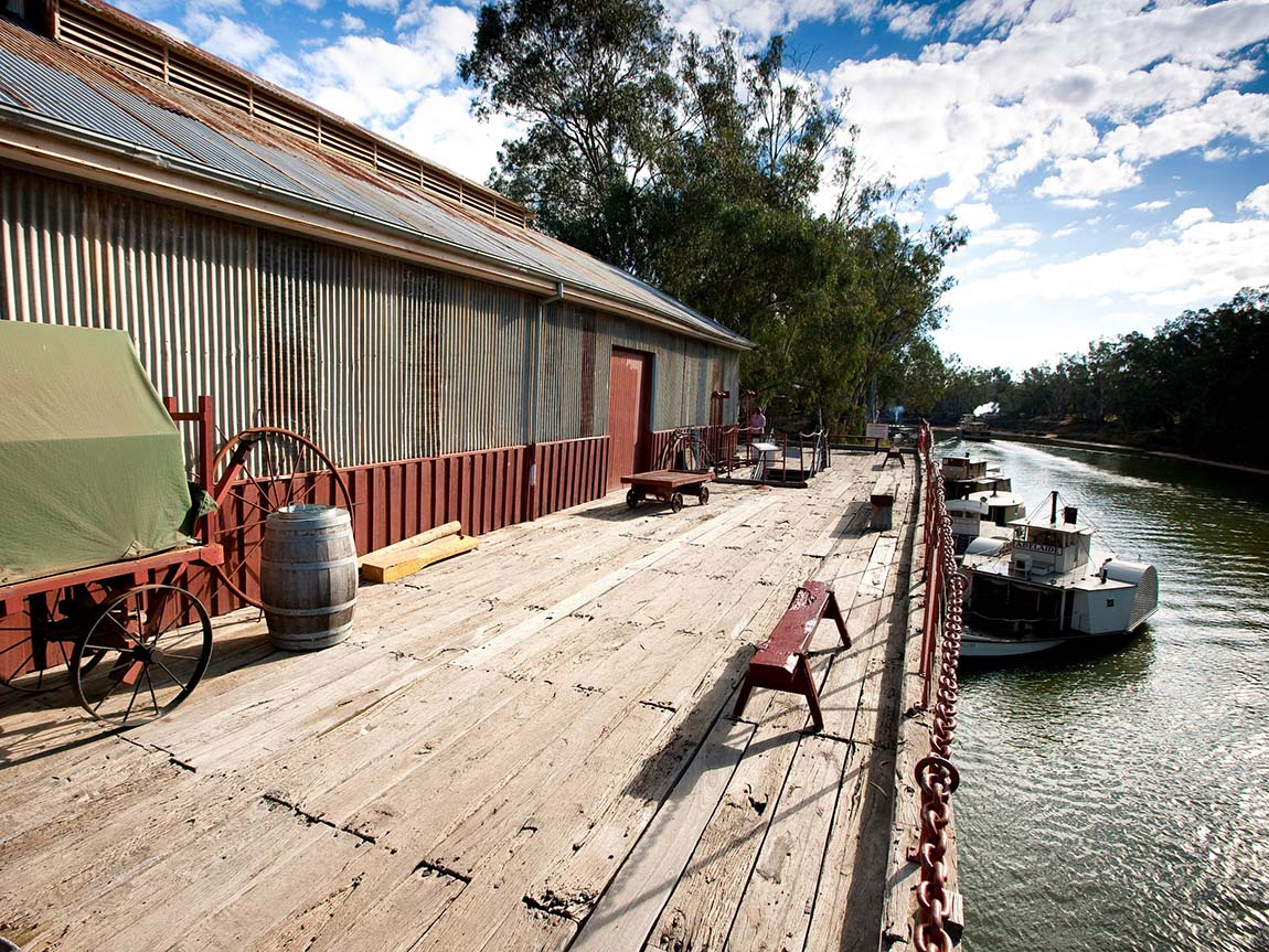 Echuca Wharf, The Murray, Victoria, Australia