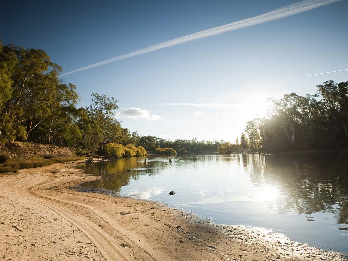 The Murray River at Yarrawonga, The Murray, Victoria, Australia