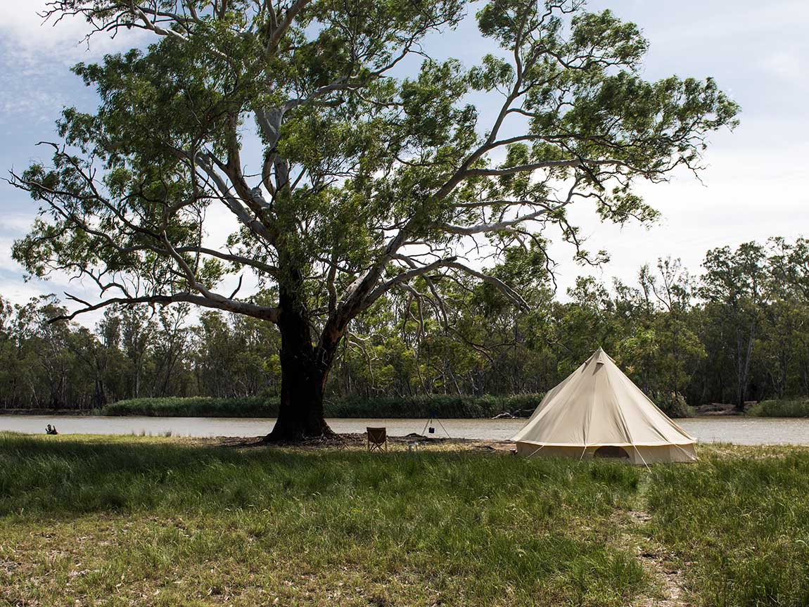 Camping, The Murray, Victoria, Australia