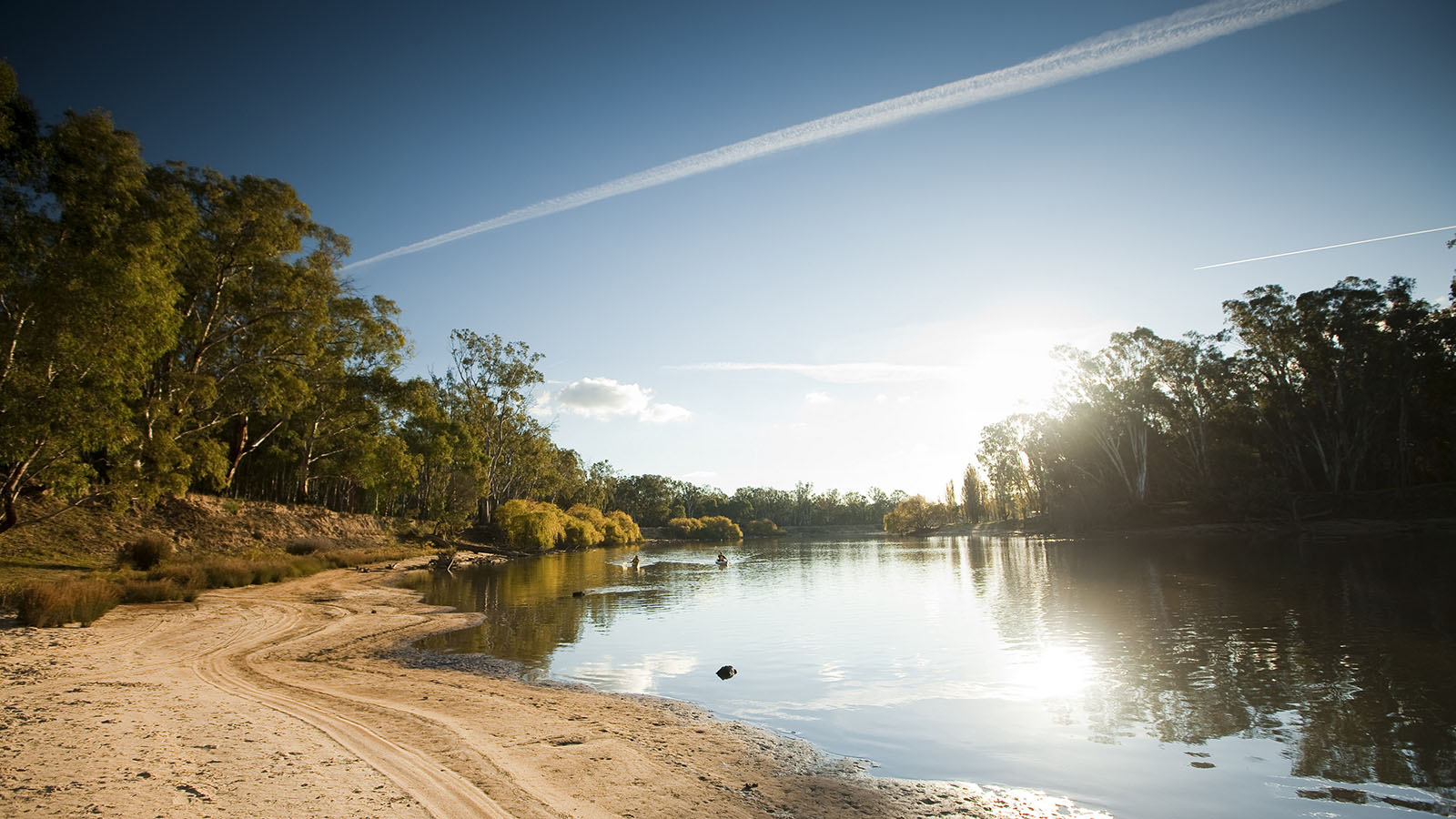 Kayaking, The Murray, Victoria, Australia