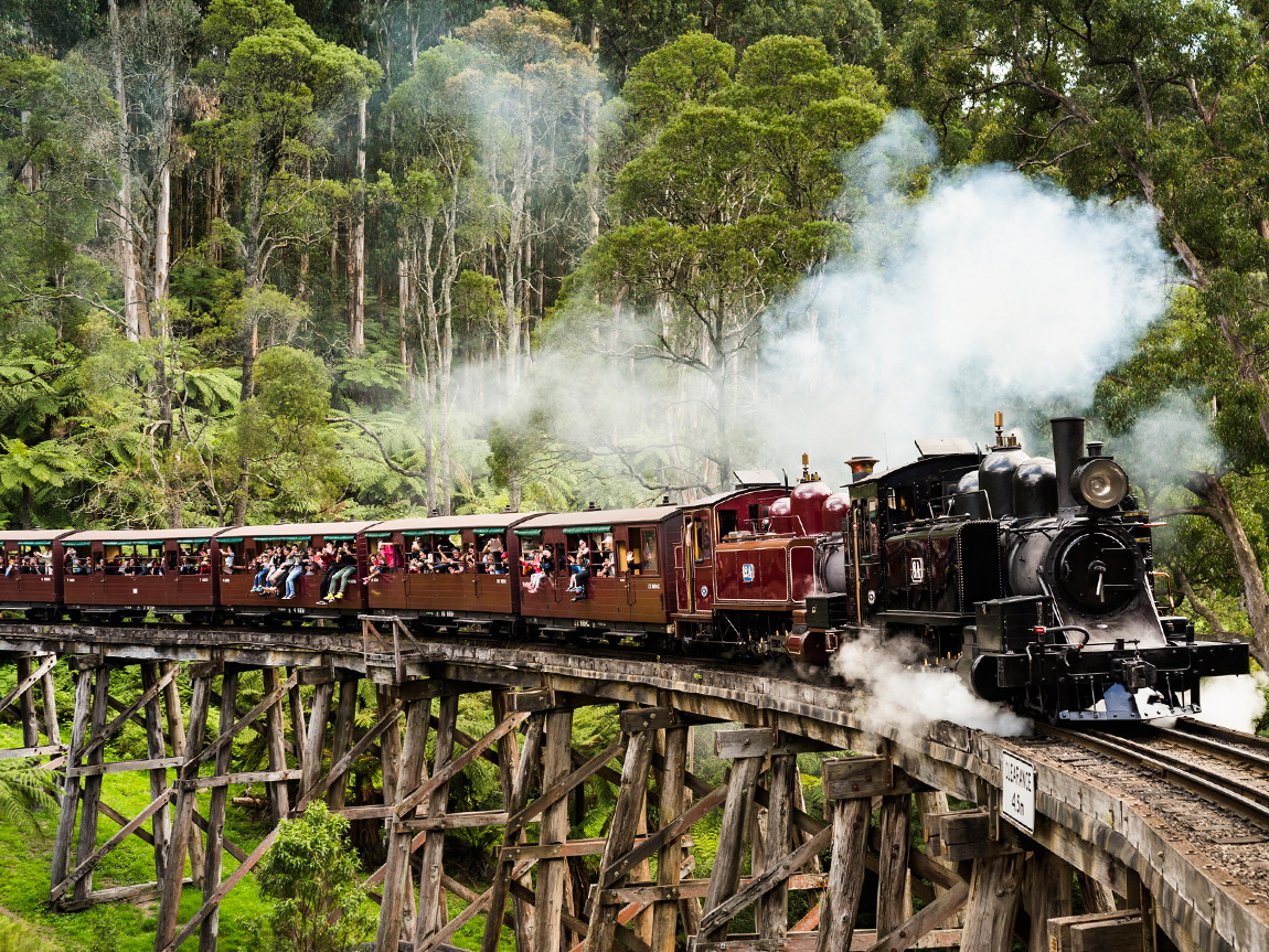 Puffing Billy Steam Railway, Yarra Valley and Dandenong Ranges, Victoria, Australia. Photo: Robert Blackburn