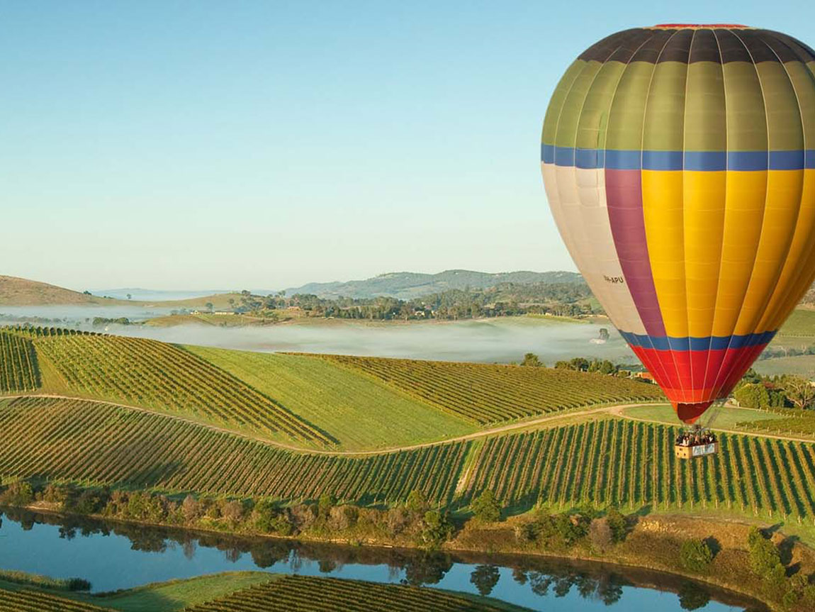 Balloon over the Yarra Valley, Yarra Valley and Dandenong Ranges, Victoria, Australia