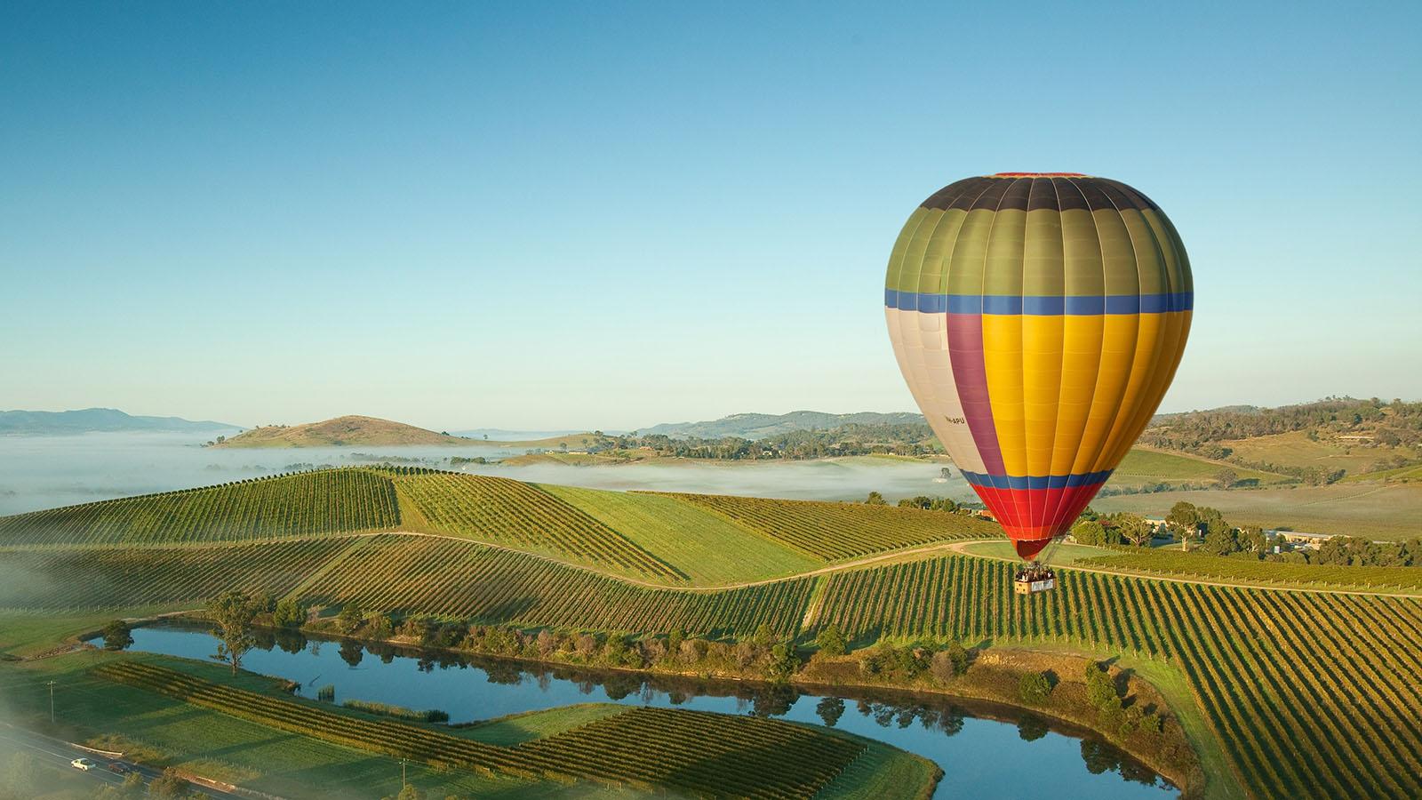 Ballooning over Yarra Valley, Yarra Valley & Dandenong Ranges, Victoria, Australia