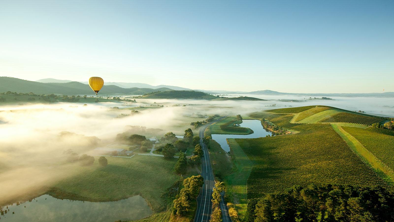 Hot air balloon, Yarra Valley & Dandenong Ranges, Victoria, Australia