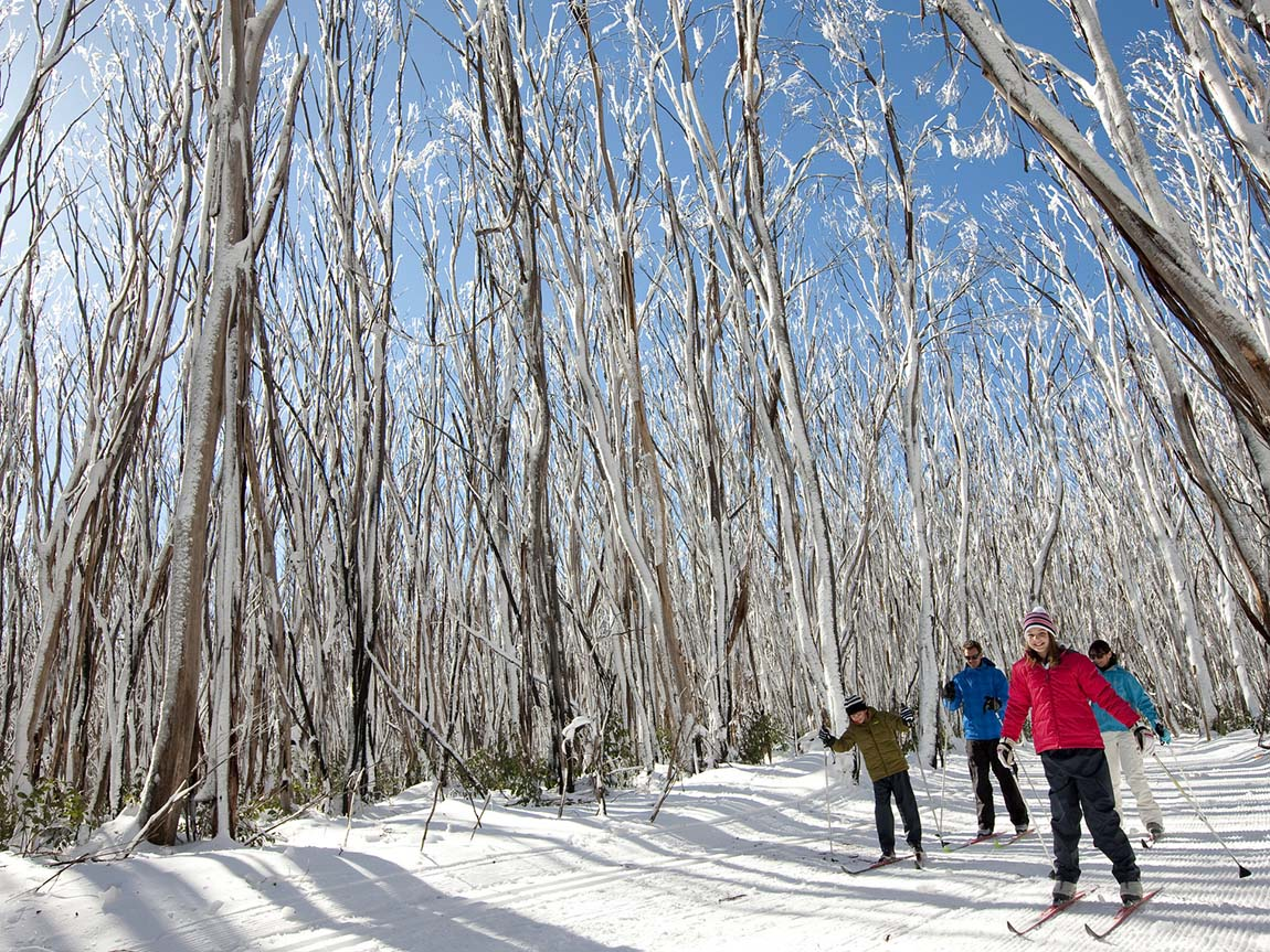Skiing at Lake Mountain, Yarra Valley and Dandenong Ranges, Victoria, Australia