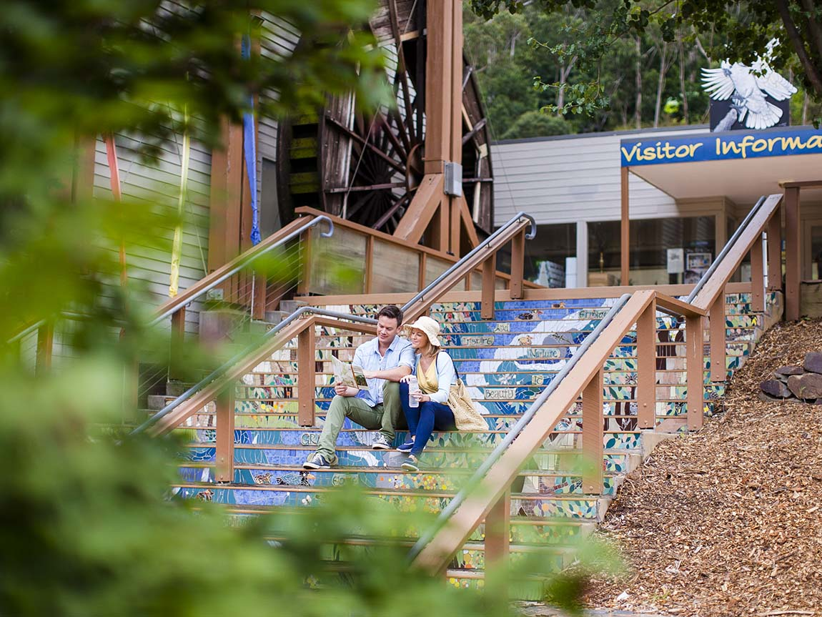 Warburton Waterwheel Visitor Information Centre, Yarra Valley and Dandenong Ranges, Victoria, Australia